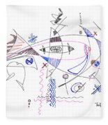Abstract Drawing Sixty-four Fleece Blanket