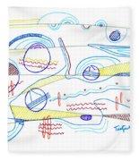 Abstract Drawing Sixty-three Fleece Blanket