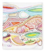 Abstract Drawing Sixty-two Fleece Blanket