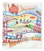 Abstract Drawing Three Fleece Blanket