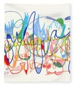 Abstract Drawing Two Fleece Blanket