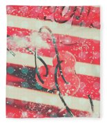 Abstract Dynamite Charge Fleece Blanket