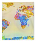 Abstract Earth Map 2 Fleece Blanket
