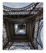 Abstract Eiffel Tower Looking Up Fleece Blanket