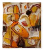 Abstract Expressionism Three Fleece Blanket