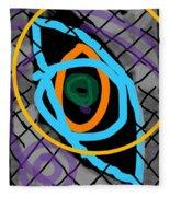 Abstract Eye Fleece Blanket