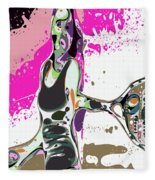 Abstract Female Tennis Player Fleece Blanket