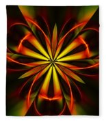 Abstract Floral 032811 Fleece Blanket