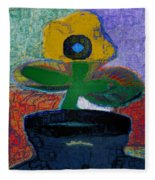 Abstract Floral Art 115 Fleece Blanket