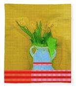 Abstract Floral Art 323 Fleece Blanket
