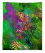 Abstract Floral Fantasy 071912 Fleece Blanket