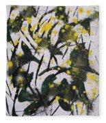 Abstract Floral Study Fleece Blanket