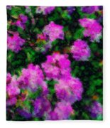 Abstract Flowers Fleece Blanket
