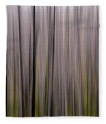 Abstract Forest Fleece Blanket