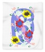 Abstract Garden #1 Fleece Blanket by Bee-Bee Deigner