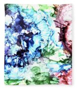 Abstract Garden Fleece Blanket