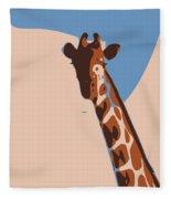 Abstract Giraffe Fleece Blanket