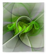 Abstract Green Fractal Art Fleece Blanket