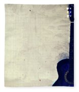 Abstract Guitar In The Foreground Close Up On Watercolor Painting Background. Fleece Blanket