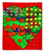 Abstract Haert 80218 Fleece Blanket