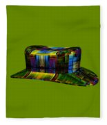 Abstract Hat For All Fleece Blanket
