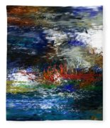Abstract Impression 5-9-09 Fleece Blanket