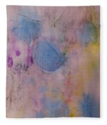 Abstract In Red, Blue, And Yellow Fleece Blanket