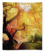 Abstract Japanese Maple Tree 2 Fleece Blanket