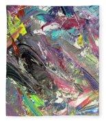 Abstract Jungle 9 Fleece Blanket