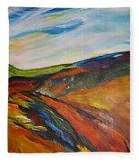 abstract landscape-Haloze Fleece Blanket