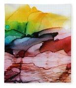 Abstract Landscape Fleece Blanket