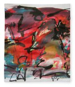 Abstract Landscape Sketch13 Fleece Blanket