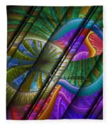 Abstract Levels Of Color Fleece Blanket