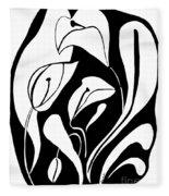 Abstract Lilies Fleece Blanket