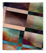 Abstract Lines And Shapes Fleece Blanket
