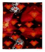 Abstract Love Fleece Blanket