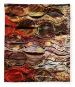 Abstract Magnified Lines Fleece Blanket