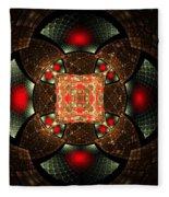 Abstract Mandala 2 Fleece Blanket