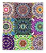 Abstract Mandala Collage Fleece Blanket