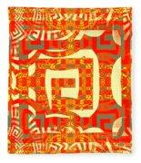 Abstract Maze Fleece Blanket