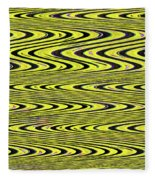 Abstract Metal Plate Fleece Blanket