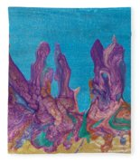 Abstract Mirage Cityscape In Blue Fleece Blanket