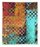 Abstract Modern Art - Pieces 1 - Sharon Cummings Fleece Blanket