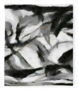 Abstract Monochome 156 Fleece Blanket