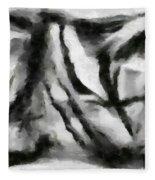 Abstract Monochome 158 Fleece Blanket