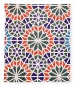 Abstract Moroccon Tiles Colorful Fleece Blanket