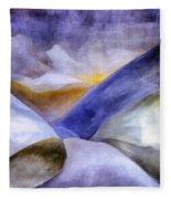 Abstract Mountain Landscape Fleece Blanket
