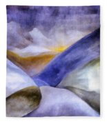 Abstract Mountain Landscape Fleece Blanket