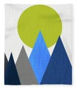 Abstract Mountains And Sun Fleece Blanket