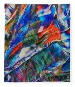 abstract mountains II Fleece Blanket